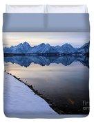 Reflections In Jackson Lake Duvet Cover