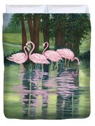 Reflections In Pink Duvet Cover