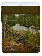 Reflections In Starvation Lake Duvet Cover