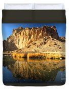 Reflections In The Crooked River Duvet Cover