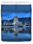 Reflections In The Kanawha River Duvet Cover
