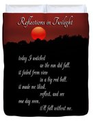 Reflections In Twilight Duvet Cover