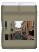 Reflections In Venetian Canal Duvet Cover