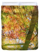Reflections Of A Colorful Fall 001 Duvet Cover