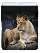 Reflections Of A Lioness Duvet Cover