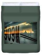 Reflections Of A Sunset Flight Duvet Cover
