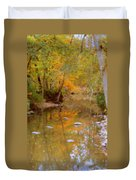 Reflections Of An Autumn Day Duvet Cover