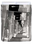 Reflections Of An Infrared Alley Duvet Cover