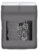 Reflections Of Architecture In Balck And White Duvet Cover