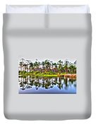 Reflections Of Pines Duvet Cover