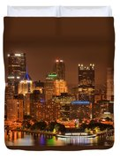 Reflections Of Pittsburgh Duvet Cover