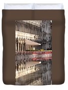 Reflections Of Saint Mark's Square -day Duvet Cover