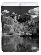 Reflections Of Sedona Black And White Duvet Cover