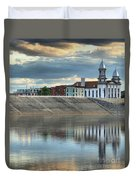 Reflections Of The Courthouse Duvet Cover