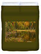 Reflections Of The Fall Duvet Cover