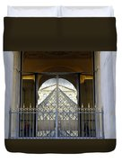 Reflections Of The Musee Du Louvre In Paris France Duvet Cover