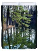 Reflections Of The Pine Duvet Cover