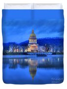 Reflections Of The West Virgina Capitol Building Duvet Cover
