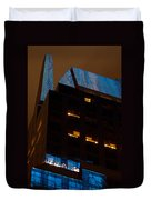 Reflections Of Times Square Duvet Cover