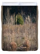 Reflections Of Winter Past 2014 Duvet Cover