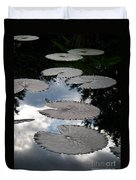 Reflections On A Lily Pond Monet Duvet Cover