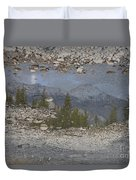 Reflections On A Mountain Stream Duvet Cover