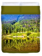 Reflections On A Summer Day - Vail - Colorado Duvet Cover