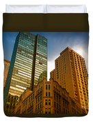 Reflections On Buildings Nyc Duvet Cover