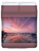Reflections On North Jetty Dusk Duvet Cover