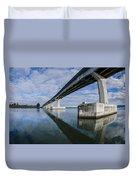 Reflections On Samoa Bridge Duvet Cover