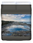 Reflections On The South Spit Duvet Cover