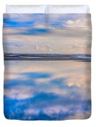 Reflections On The Beach Duvet Cover