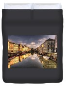 Reflections Over Ghent Duvet Cover
