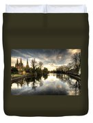 Reflections Over Lichfield Duvet Cover