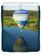 Reflections Over The Dechutes Duvet Cover