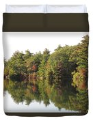 Reflections Two At Pearce Lake Breakheart Duvet Cover