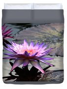 Dark Water Reflections Duvet Cover