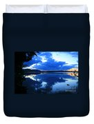 Reflective Blues On Lake Umbagog  Duvet Cover