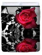 Reflective Red Rose Duvet Cover