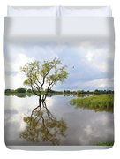 Reflective Times Duvet Cover