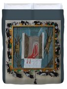 Refrigerator Rock And The King - Framed Duvet Cover