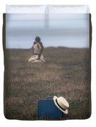 Refugee Girl Duvet Cover by Joana Kruse