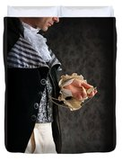 Regency Man With A Pocket Watch Duvet Cover