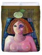 Regina, 2004 Acrylic & Metal Leaf On Canvas Duvet Cover