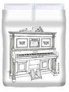 Regina Player Piano Duvet Cover