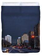 Regina Street At Night Duvet Cover