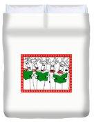Reindeer Choir Duvet Cover