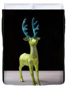 Reindeer Christmas Card Duvet Cover