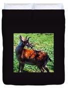 Reindeer Scratch Duvet Cover