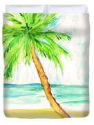 Relax Palm Duvet Cover